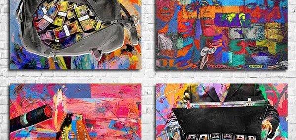 Скидка 55% на картины для интерьера от интернет-магазина «Franklin.fun»